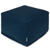 Navy Blue Solid Large Ottoman