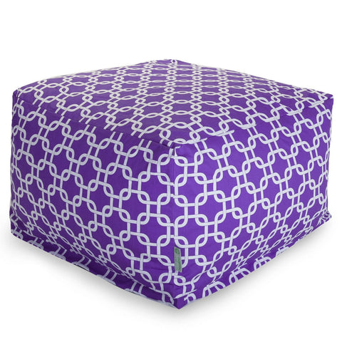 Purple Links Large Ottoman
