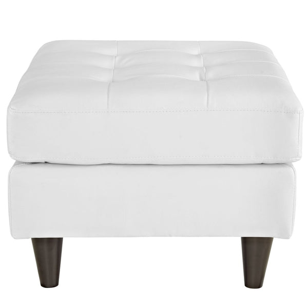 Empress Bonded Leather Ottoman