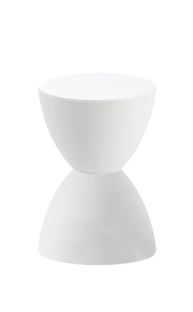 Sallie Stool In White Outdoor