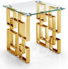 Pierre Gold End Table Glass Top