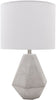 Stonington Modern Table Lamp Natural Finish White