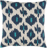Kantha Throw Pillow Blue, Blue