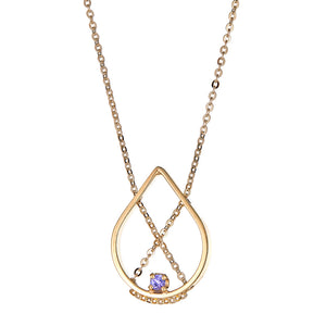 Petal Necklace Petite in Yellow Gold with Iolite