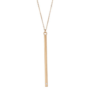 Tower Necklace in Gold with Diamond