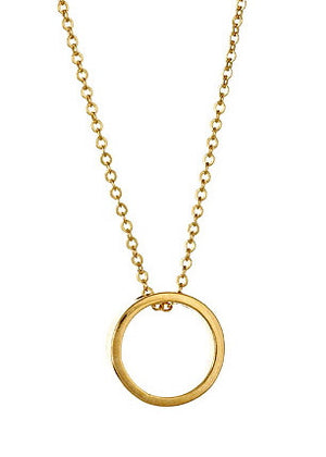 Looking Glass Necklace  in Yellow Gold