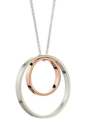 Delvaux Necklace in Sterling Silver and Rose Gold