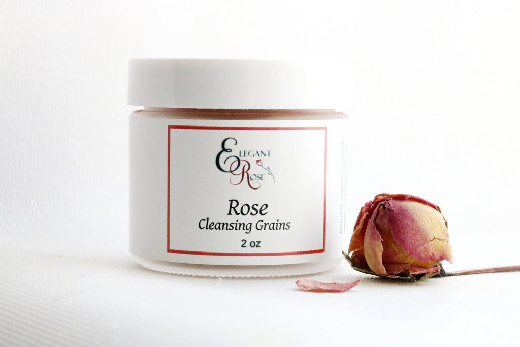 Rose Cleansing Grains, Natural Skin Care