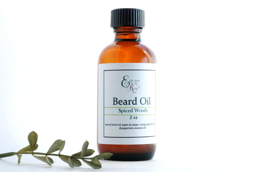 Spiced Woods Natural Beard Oil - Beard Conditioning Oil, Natural Man Beard Softener