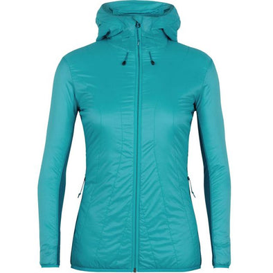 Buy Icebreaker Women's MerinoLOFT Hyperia Lite Hybrid Hooded Jacket NZ | NZ's Best Trail Running and Crossfit | Highbeam.co.nz - Get out there and go for a run!