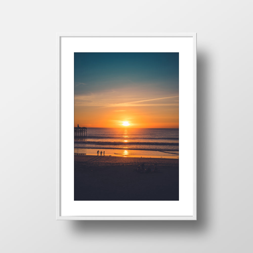 """Pacific Beach Sundown"" Print by Jon Mesic, 18x24"""