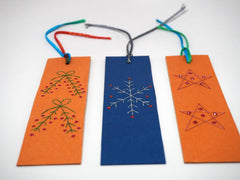 Three Christmas bookmarks