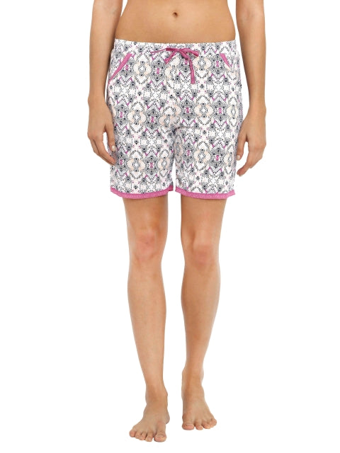Jockey Lavendor Scent Print56 Knit Sleep Shorts