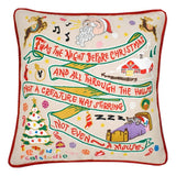 Night Before Xmas Hand-Embroidered Pillow