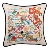 San Diego Hand-Embroidered Pillow