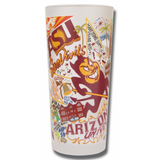 Arizona State Collegiate Frosted Glass Tumbler