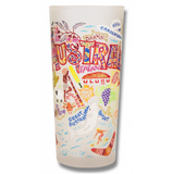 Australia Frosted Glass Tumbler