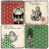 Santa Notes Drink Coasters