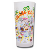 Los Angeles Frosted Glass Tumbler
