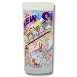 New Orleans Frosted Glass Tumbler