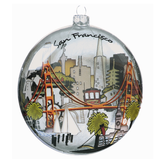 San Francisco Glass Ornament