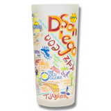 San Diego Frosted Glass Tumbler