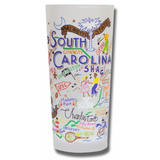 State of South Carolina Frosted Glass Tumbler