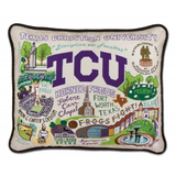 Texas Christian University Collegiate Embroidered Pillow