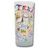 State of Texas Frosted Glass Tumbler