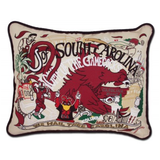 University of South Carolina Collegiate Embroidered Pillow