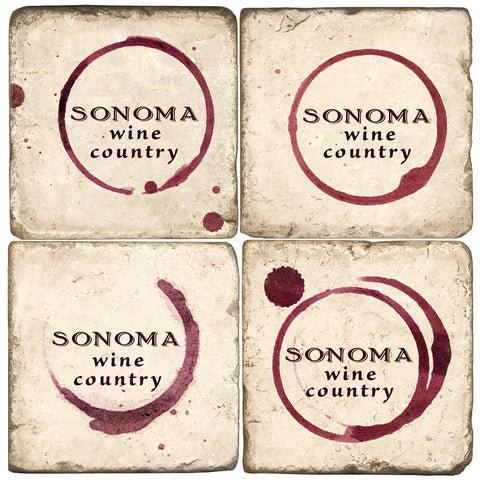 Sonoma Wine Country Drink Coasters