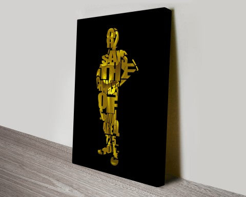 C-3PO star wars canvas wall art print