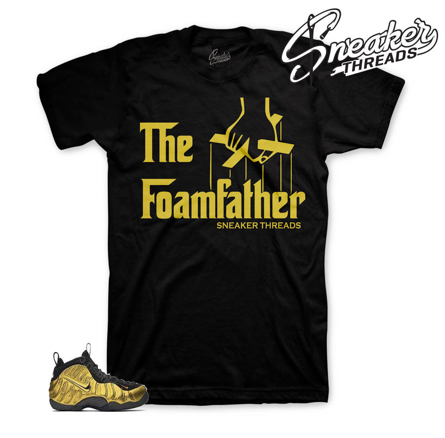 Fomaposite metallic gold shirts | Foam heaven cent tee.