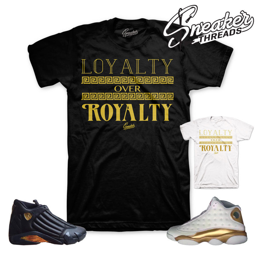 Jordan 13 & 14 defining moments tees match retro 13 shirts.