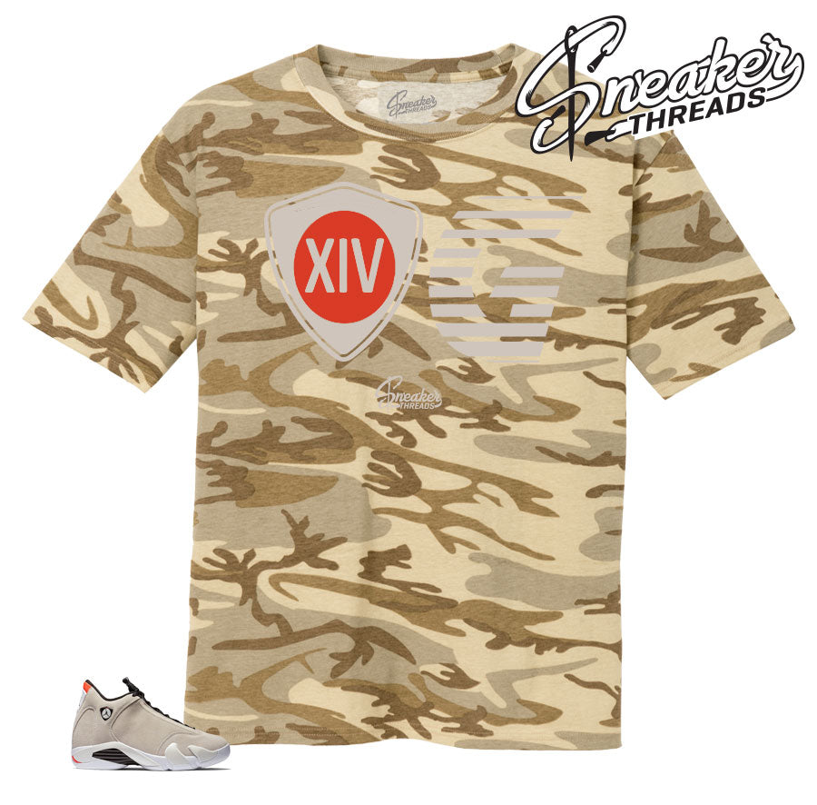 Shirts match Jordan 14 desert sand shoes | Matching tees.