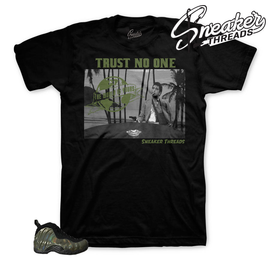 Shirts match foam sneaker | hustle state mind tee match legion green