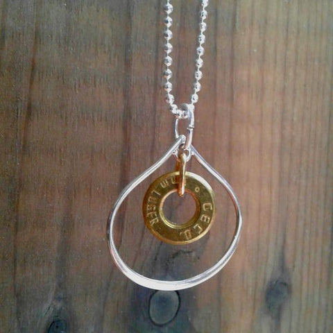 Holey Shot Sterling Silver Necklace