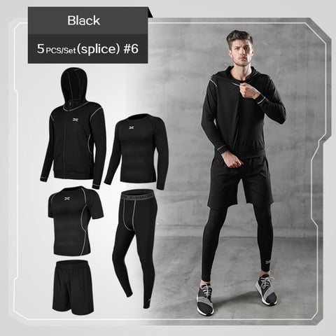 REXCHI 5 Pcs/Set Men's Tracksuit - Superb