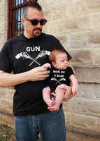 2 shirts GUN Son of a GUN  | Father Son Matching Shirts | Father Son combo