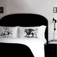 centaur and griffin pillowcase set