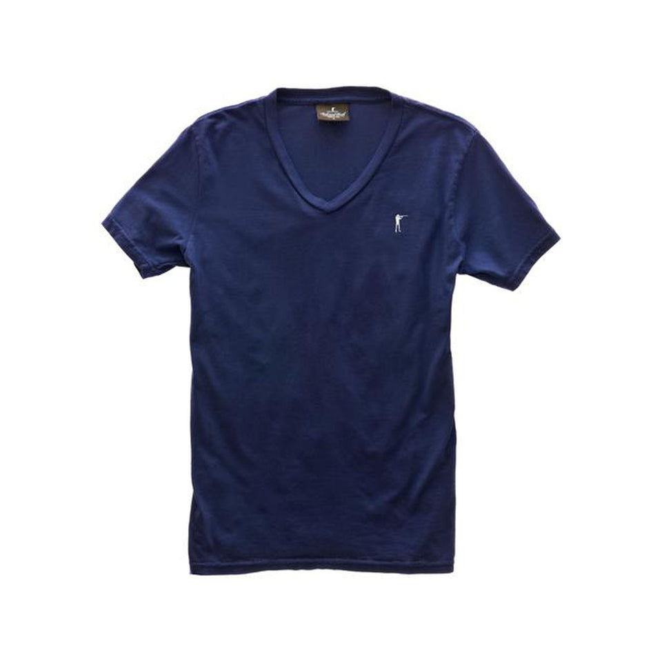 5oz V-Neck Roger Tee - Navy