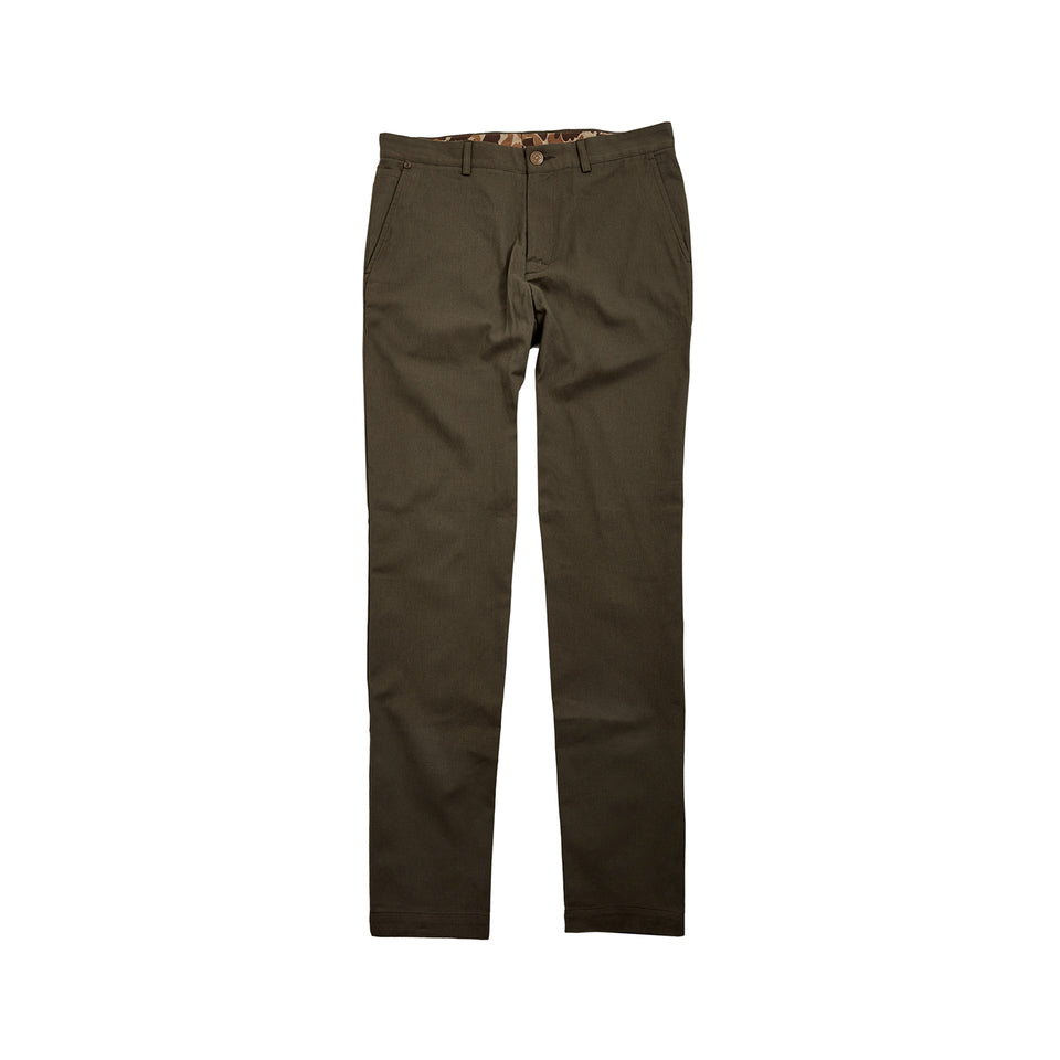 6 Point Pant Sanded Twill - Olive