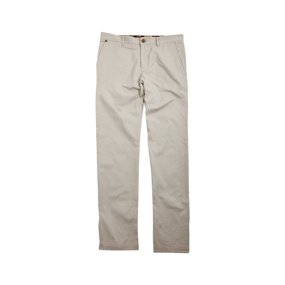 8 Point Pant Sanded Twill - Cream