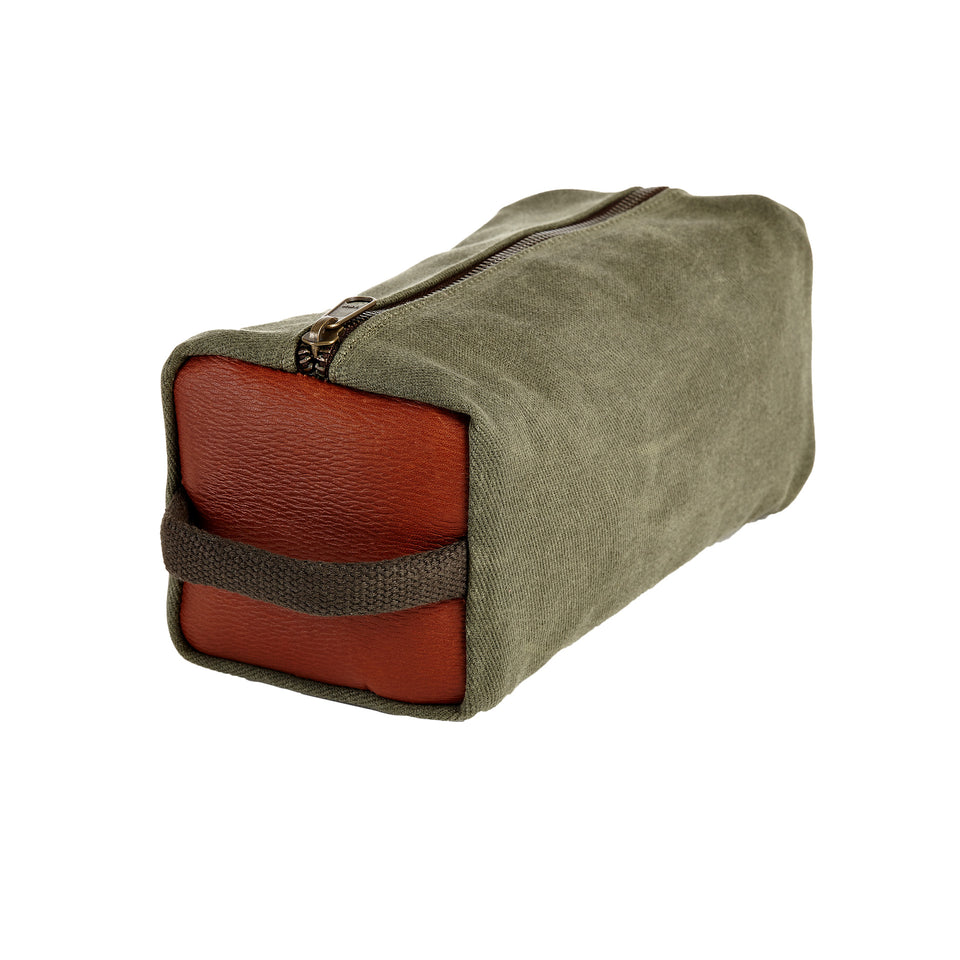 Dopp Kit - Sage Waxed Canvas