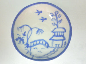 Blue and White Oriental Ceramic plate - bird pattern
