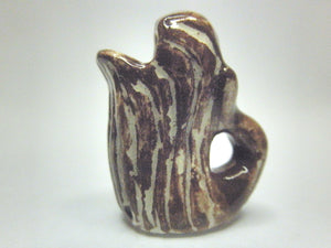 Miniature pitcher nautical brown whale