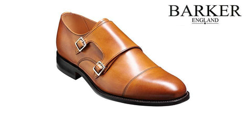 Shoes Men - Barker Tunstall Double Monk Shoes - Cedar Calf