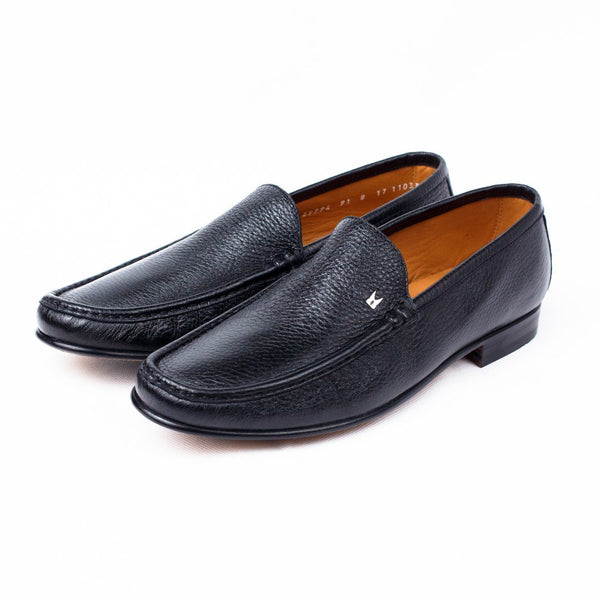 Shoes Men - MORESCHI - Hannover Deerskin Loafers - Black