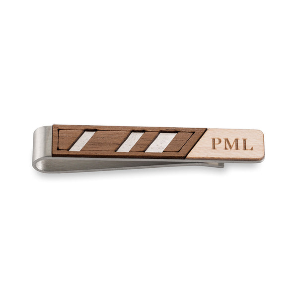 Diagonal Two Tone Tie Clip
