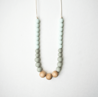 Silicone and Wood Teething Necklace